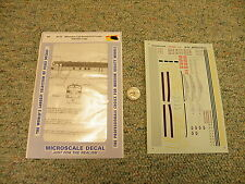 Microscale decals 87-53 Milwaukee cab units E F units Hiawatha logo K103
