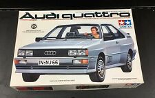 TAMIYA 1:24 Scale Audi Quattro with Driver Figure Scale Model Kit Complete