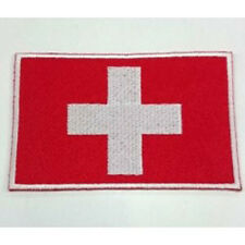 Switzerland Swiss Country Flag Embroidered Sew/Iron On Patch Patches