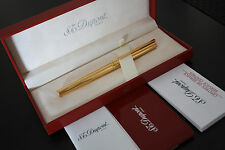 S.T.DUPONT Classic Fountain Pen Vermeil Gold Plated 925 Sterling Silver Boxed