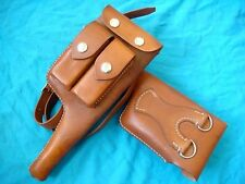 123/7741 GERMAN MAUSER C96 BROOMHANDLE LEATHER HOLSTER