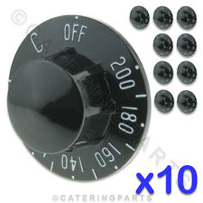 PACK OF 10 x ROBERTSHAW Z34620-178 UNIVERSAL FRYER CONTROL KNOBS 0-200 RX PITCO