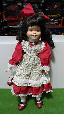 POUPEE PORCELAINE couleur rouge NOSTALGIA MINT MOONFLOWER 1995 DOLLS COLLECTION