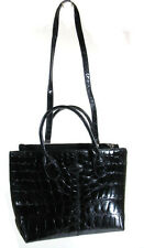 TOD'S MAGNIFICENT BLACK ALLIGATOR SHOULDER BAG, ITALY