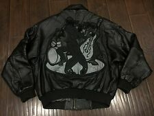 VTG�� PELLE PELLE Marc Buchanan MB Black Multi Leather Jacket 46 Blues Jazz Wolf