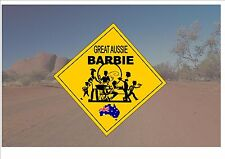 Australian Style Road Sign Australia Road Sign Novelty Fun BBQ Sign Barbie sign