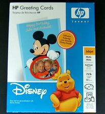 Disney HP Greeting Cards Mickey Mouse Inkjet Matte 20 Ct Cards Envelopes CD Open