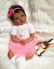 "AA Biracial Ethnic Reborn Girl Shyann by It's a doll affair ""Tawny & Mochaccino"""