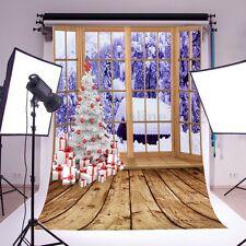 FONDALE STUDIO FOTOGRAFICO SFONDO fiocco di neve SCENARIO NATALE ALBERO 1.5*2.1M