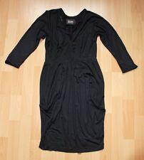 Kleid Stretchkleid Etuikleid  38 40 Schwarz 3/4 Ärmellänge Neuwertig Viscose