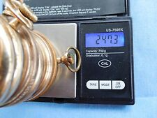 SCRAP GOLD FILLED ANTIQUE POCKET WATCH CASES 20YR & 25YR 247 GRAMS GOOD CASES