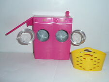 "Barbie ""Spin To Clean"" Laundry Room Push Button Washer Dryer Basket"