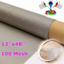 150 Micron Stainless Steel 100 Mesh 316 Oil Filter Filtration Screen 12''x48''