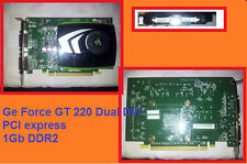 Scheda video Nvidia Ge Force GT220 CUDA  Dual DVI 1gb ddr2 2048x1536 Nuova new