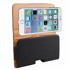 for iPhone 6/6s Plus - BLACK PU Leather Pouch Holder Belt Clip Holster SKin Case