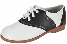 GIRLS SIZE 6 ~ SAME AS A WOMEN'S SIZE 7-1/2 BLACK & WHITE 50'S SADDLE SHOES ~NEW