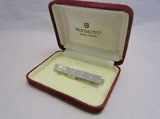 Vintage! Mikimoto Akoya Pearl Silver Tie Clasp /Tie Clip with 7MM Pearl AUTH!