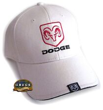 Dodge Ram Embroidered Logo Baseball Hat Cap Bone - With Racing FREE Decal