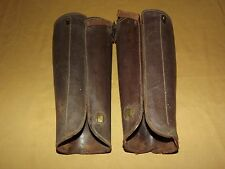 VINTAGE WWI WWII GI SOLDIER LEATHER LEGGINGS