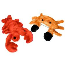 Set of 2 Small Lobster and Crab Sealife Soft Toys - Suitable For All Ages (0+)