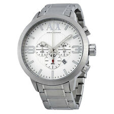 Armani Exchange Chronohraph Silver Dial Stainless Steel Mens Watch AX1278