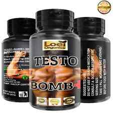 600mg TESTO BOMB STRONG MAXIMUM LEGAL TESTOSTERONE + MUSCLE BOOST-MUSCLE GROWTH