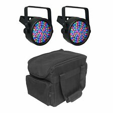 Chauvet DJ SlimPAR 38 LED DMX SlimPar Can Light Effect (2 Pack) + Transport Bag