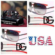 DG Eyewear Men Women  Aviators Mirrored Fashion Sports Designer Sunglasses Red