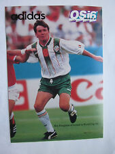 "Ray Houghton on 1994 World Cup adidas Post Card Ireland 5"" x 7"""