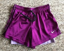 Women's Nike Purple Compression Layered Running Athletic Shorts Sz XS