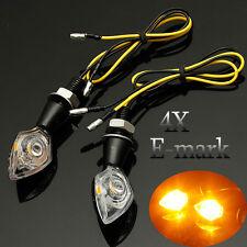 4x UNIVERSAL MOTORCYCLE LED TURN SIGNAL INDICATOR LIGHT BLINKER E-MARK12V 2W/1