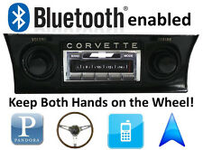 Bluetooth Enabled 68-76 Chevy Corvette 300 watt AM FM Stereo Radio iPod, USB