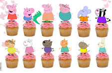 24 x Peppa Pig Edible Cupcake Cake Toppers (uncut)