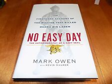 NO EASY DAY Navy SEAL SEALs Mission Kill Osama Bin Laden Special Forces LN Book