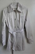 GUESS BELTED AIR TRENCH COAT WITH HOODIE, Beige, Size M, MSRP $178