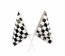 24 RACE FLAGS CHECKERED FLAGS NASCAR RACE CAR DECORATIONS PARTY FAVORS NEW
