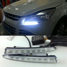 2x DRL Lights LED Daytime Running Fog Lamp w/ Control Switch Ford Escape Kuga 13