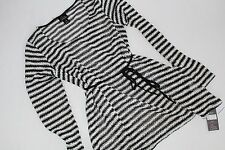 Maternity Oh Baby by Motherhood Size L Large Women's Shirt Top NWT Belt Stripe
