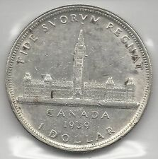 CANADA,  1939,  DOLLAR,  SILVER, KM#38,  ALMOST UNCIRCULATED