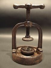 Antique Vintage Style Cast Iron Juice Nut Cracker Press