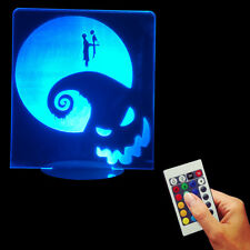 3D USB Multi-color Lamp Nightmare Before Christmas Jack & Sally LED Night Light