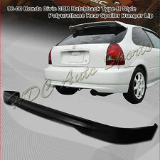 For 1996-2000 Honda Civic EK Hatchback TR Style Polyurethane PU Rear Bumper Lip