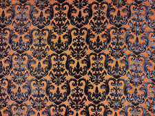 TEX EX 1149 TUILERIES ORANGE CURTAIN FURNISHING LIGHT UPHOLSTERY FABRIC DAMASK