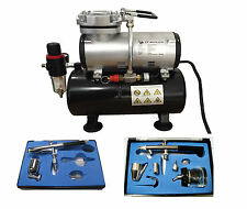 Rdgtools kit aérographe + aérographe réservoir compresseur air brush compressor