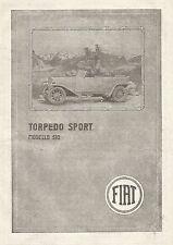 W7508 FIAT modello 510 Torpedo Sport - Pubblicità del 1920 - Old advertising
