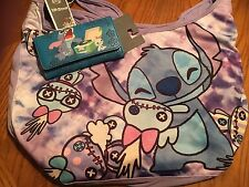 Disney Lilo & Stitch Scrump Cuddle Crossbody Hobo Bag Tote Purse & Stitch Wallet