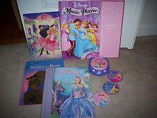 Barbie Swan Lake 12 Dancing Princesses Beauty & Beast Disney CD Music Player Lot