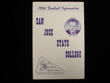 1956 San Jose State College Golden Raiders Football Media Guide