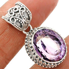 Pink Amethyst 925 Sterling Silver Pendant Jewelry PAMP159