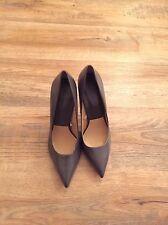 Zara Ladies Grey High Heel Shoe UK7/EU40